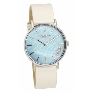 COACH Light Teal Mother Of Pearl Perry Watch